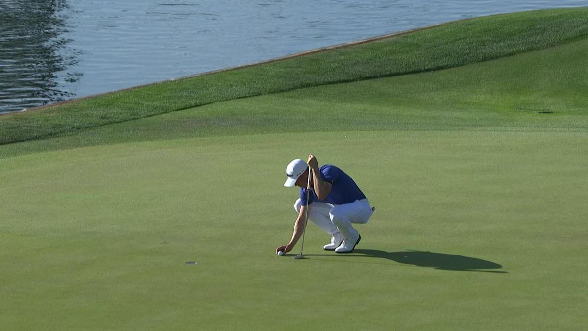 Golf PGA Tour TPC Sawgrass Day 4 : j.Thomas birdie and leader