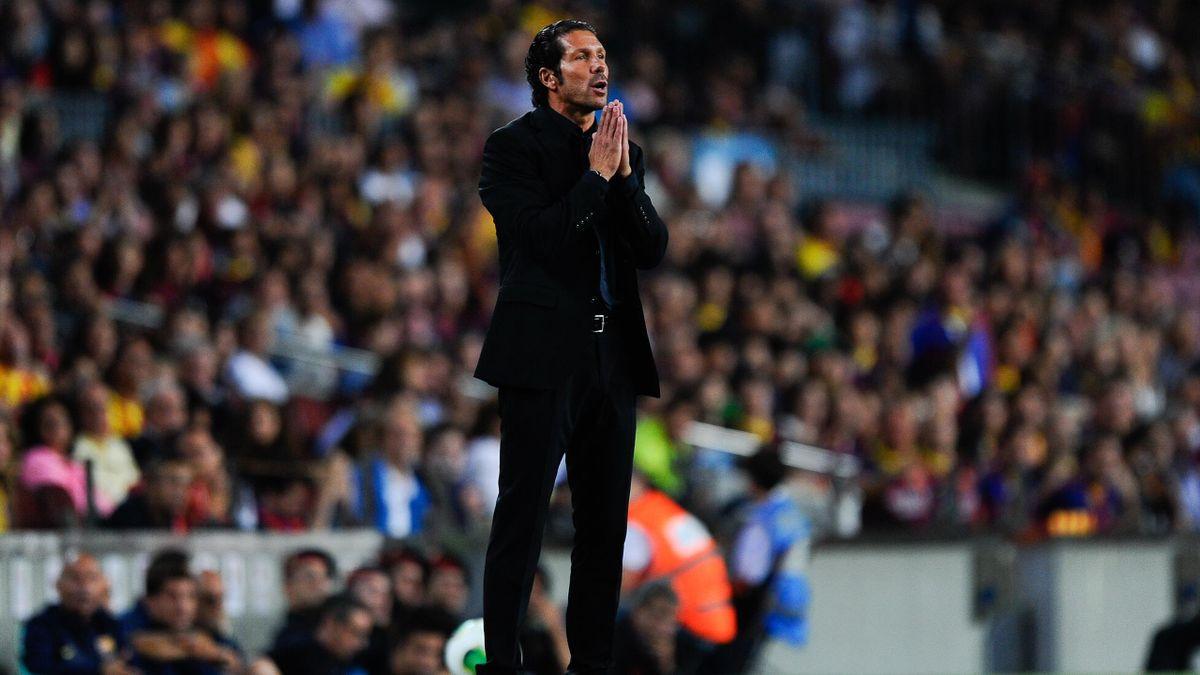 Diego Pablo Simeone en el Camp Nou