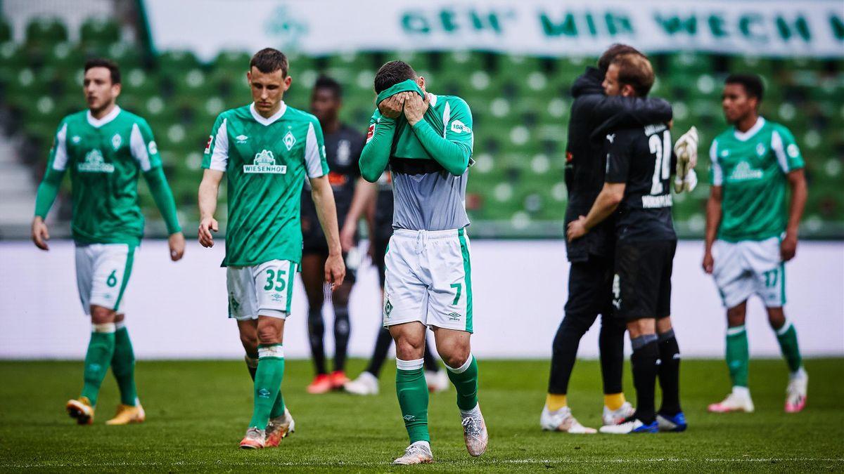 Der SV Werder Bremen ist nach der Heimniederlage gegen Borussia Mönchengladbach aus der Bundesliga abgestiegen