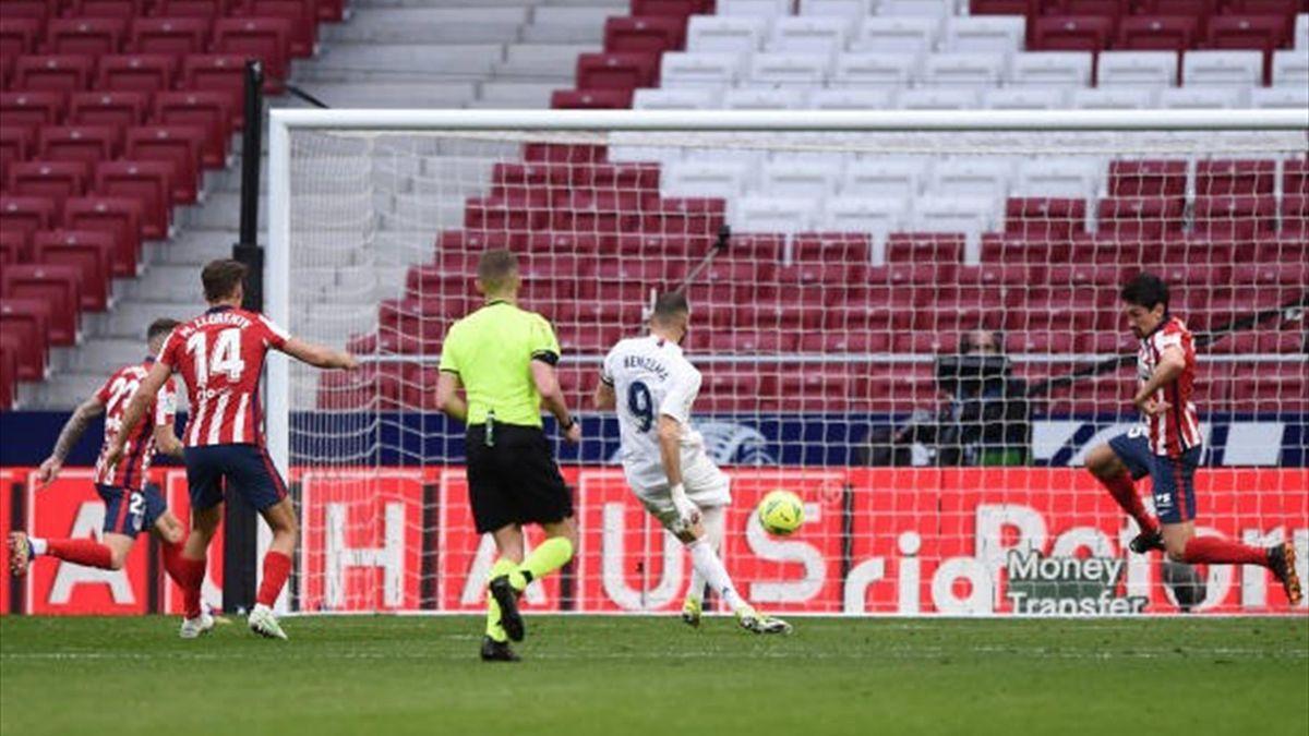 Karim Benzema a marcat în Atletico Madrid-Real Madrid (1-1. 07.03.2021)