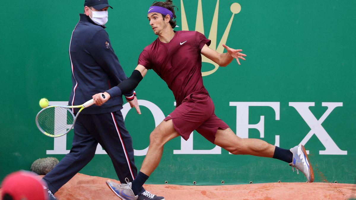 Lorenzo Musetti al torneo di Monte Carlo 2021