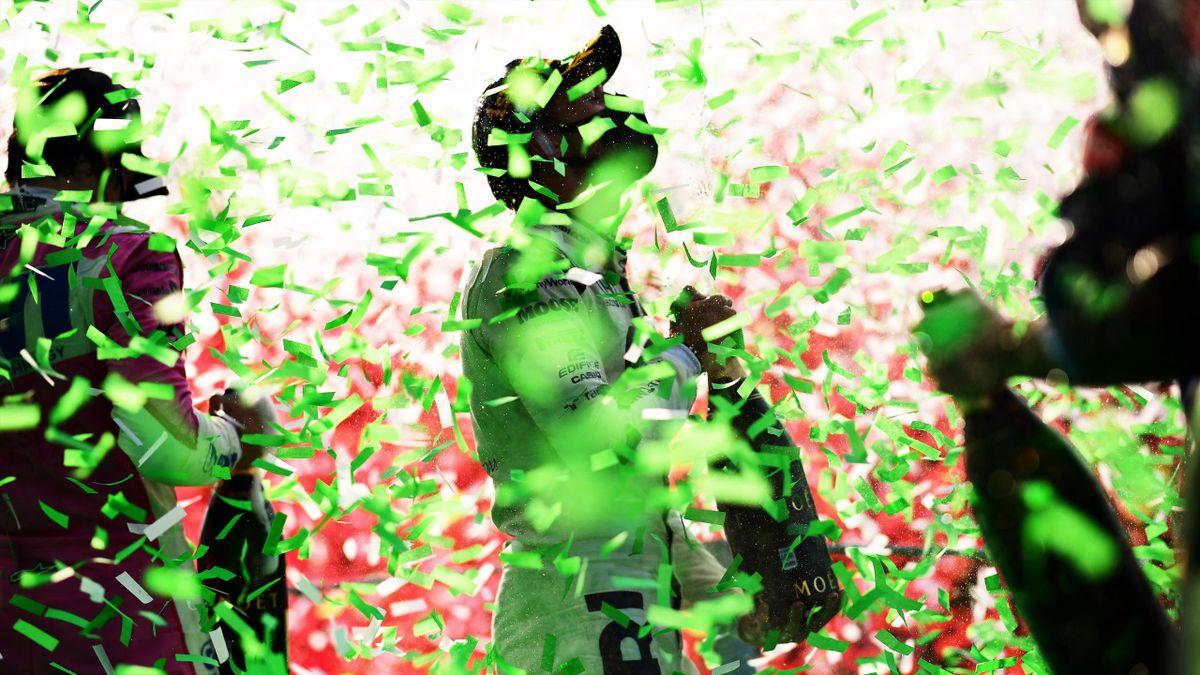 Pierre Gasly (AlphaTauri) fête sa victoire au Grand Prix d'Italie, le 6 septembre 2020