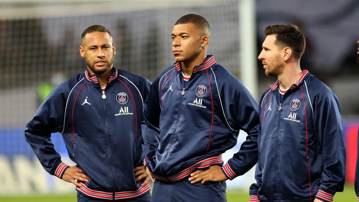Neymar, Kylian Mbappé et Lionel Messi
