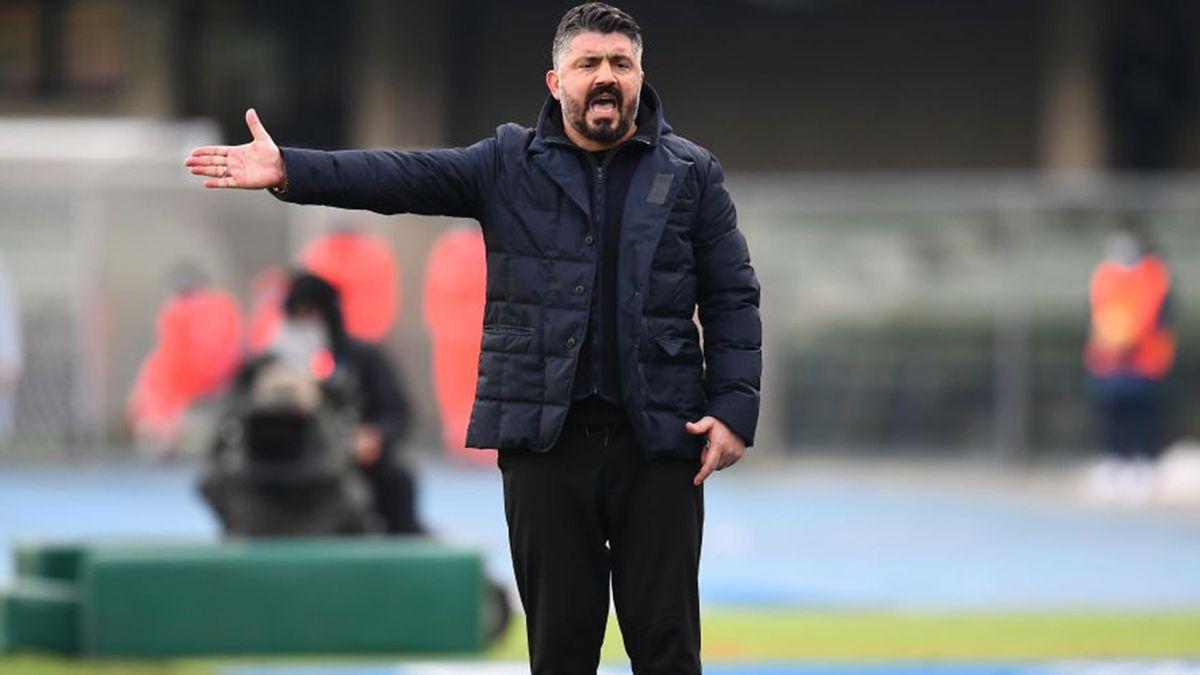 Gattuso - Hellas Verona-Napoli - Serie A 2020/2021 - Getty Images