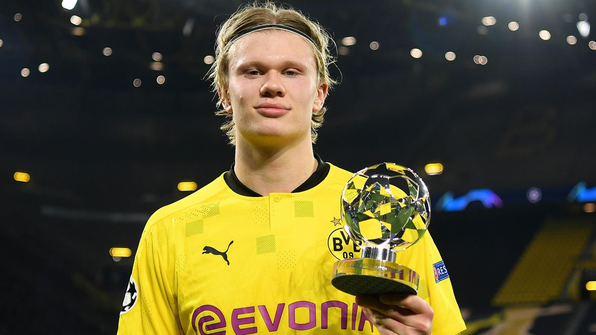 Erling Haaland reached 20 Champions League goals in 14 games