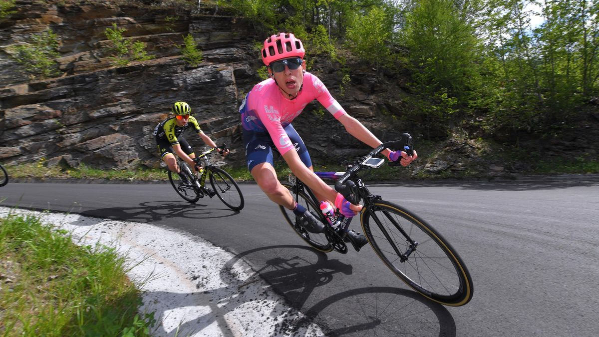 Hugh Carthy of United Kingdom and Team EF Education First / during the 102nd Giro d'Italia 2019, Stage 14 a 131km stage from Saint Vincent to Courmayeur (Skyway Monte Bianco) 1293m / Tour of Italy / #Giro / @giroditalia / on May 25, 2019 in Courmayeur, It