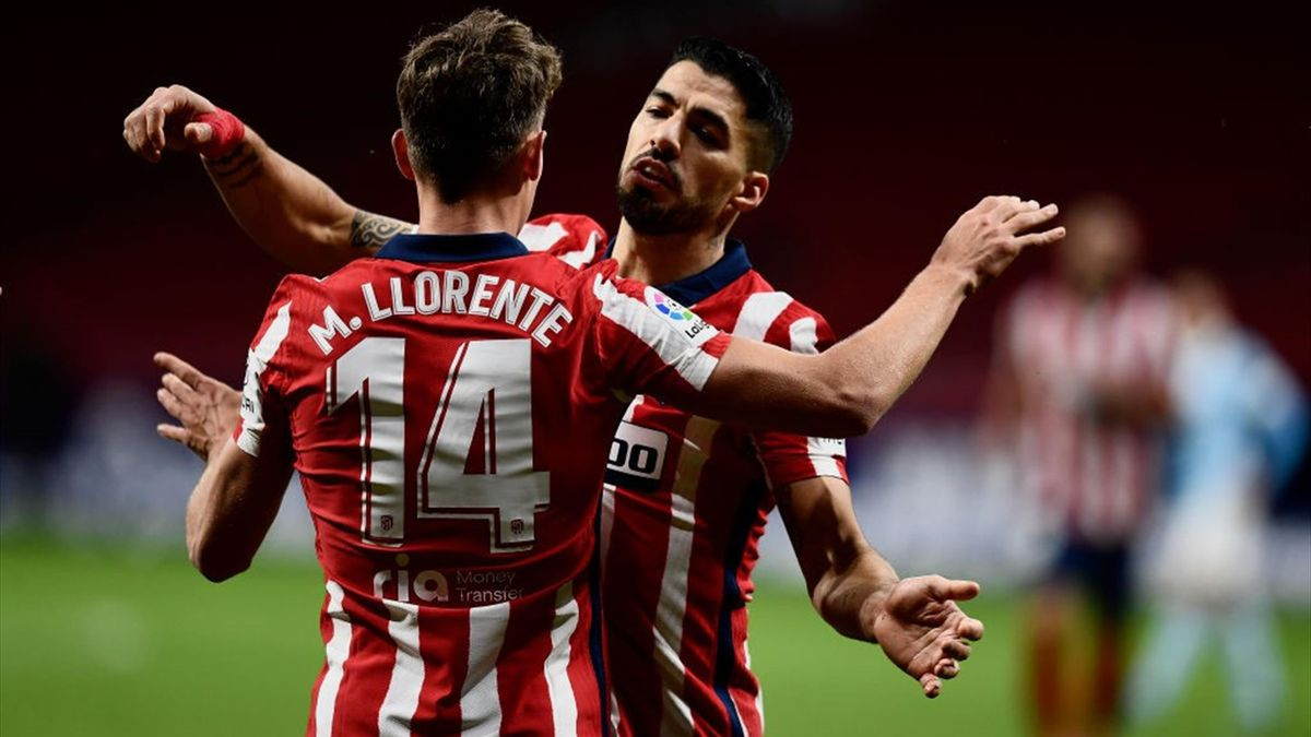 Luis Suarez, Marcos Llorente - Atlético Madrid-Celta - Liga 2020/2021 - Getty Images