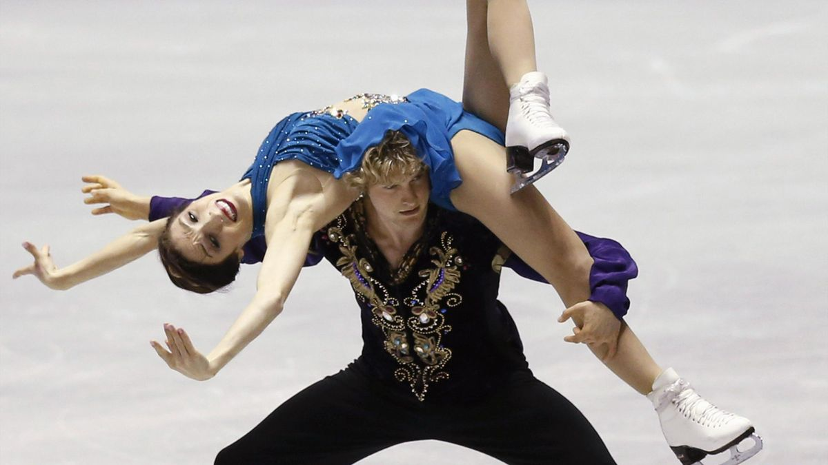 Meryl Davis and Charlie White of the U.S. perform during the ice dance free dance programme at the ISU Grand Prix of Figure Skating in Tokyo (Reuters)