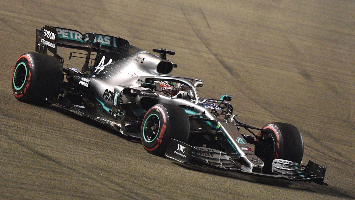 Lewis Hamilton (Mercedes) lors du Grand Prix de Singapour 2019