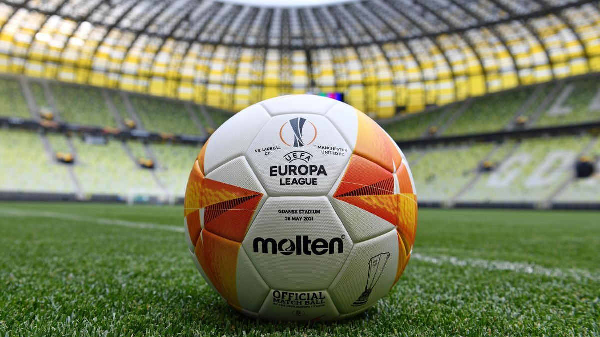 Detail view of the Molten Official Europa League Match Ball at the Gdansk Arena ahead of the UEFA Europa League Final between Villarreal CF and Manchester United