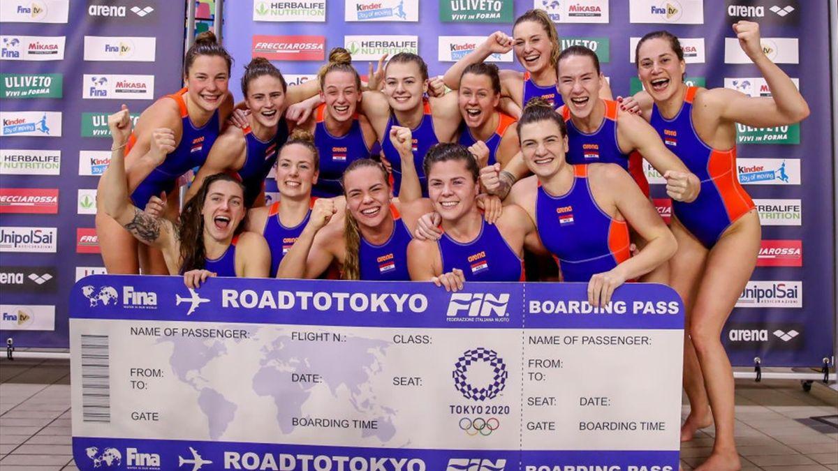 De waterpolovrouwen zijn blij met hun Olympisch 'ticket'