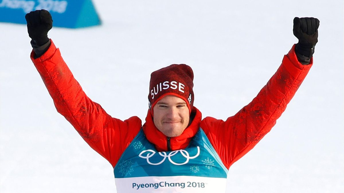 Cologna celebrates his cross-country skiing gold