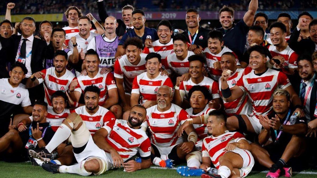 Giappone che batte la Scozia 28-21 e vola ai quarti del Mondiale di Rugby 2019
