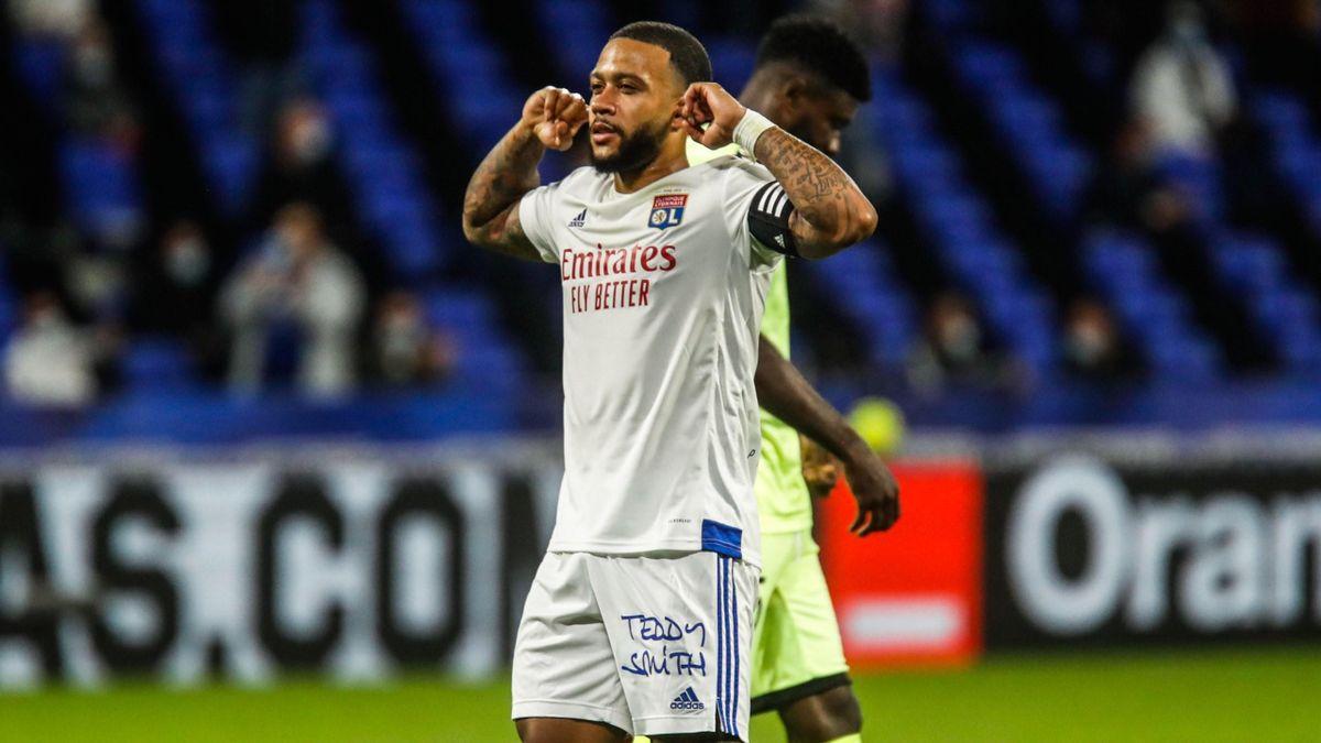 Memphis Depay (Lyon) contre Dijon