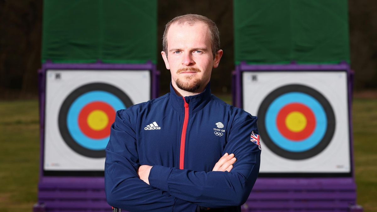 Patrick Huston, archery team announcement for Team GB for the Tokyo 2020 Olympic Games at Lilleshall National Sports Centre on April 14, 2021