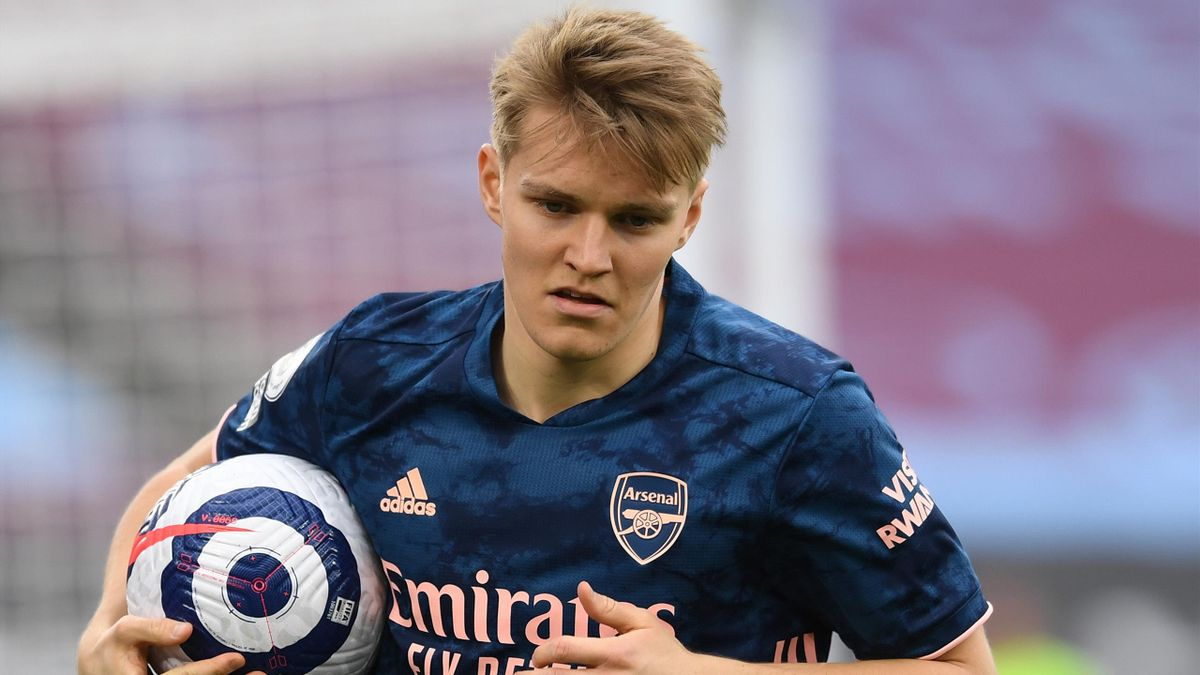 Martin Odegaard of Arsenal during the Premier League match between West Ham United and Arsenal