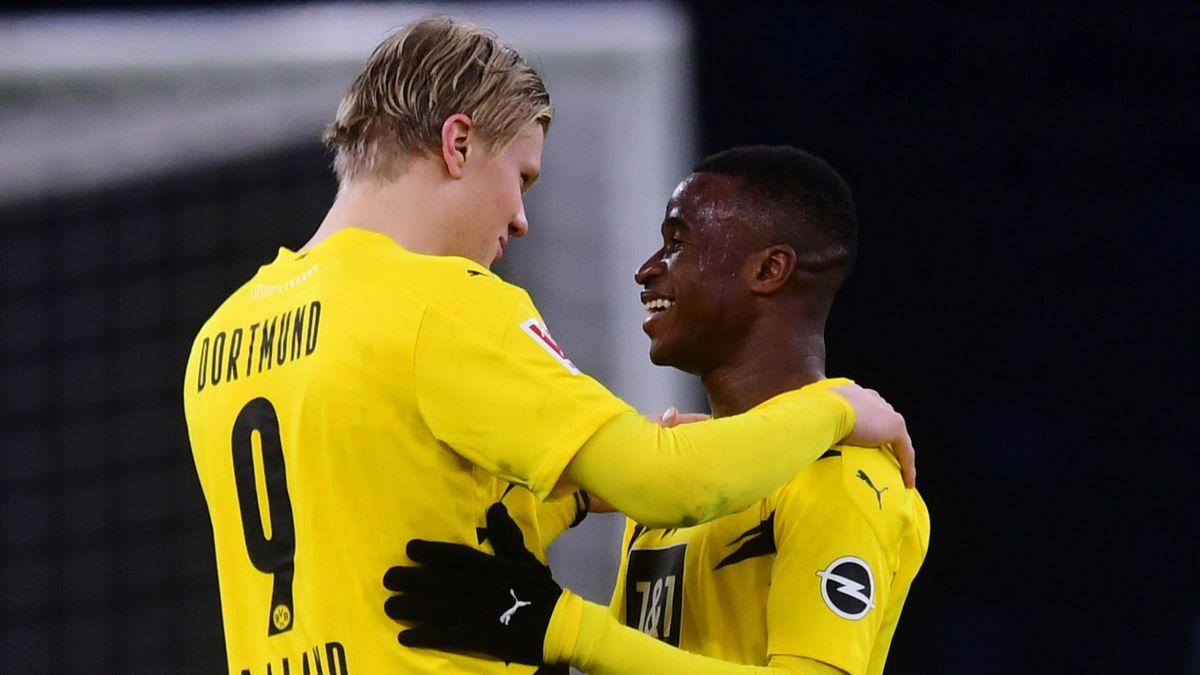 Erling Haaland und Youssoufa Moukoko von Borussia Dortmund