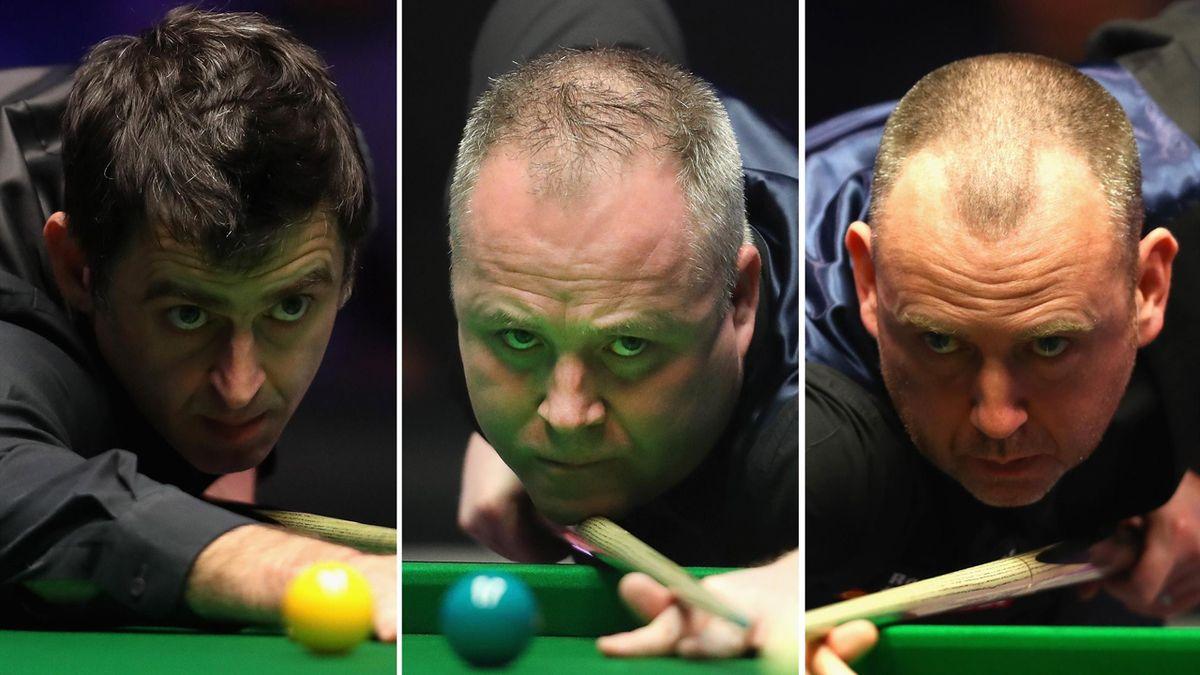 Ronnie O'Sullivan, John Higgins and Mark Williams.