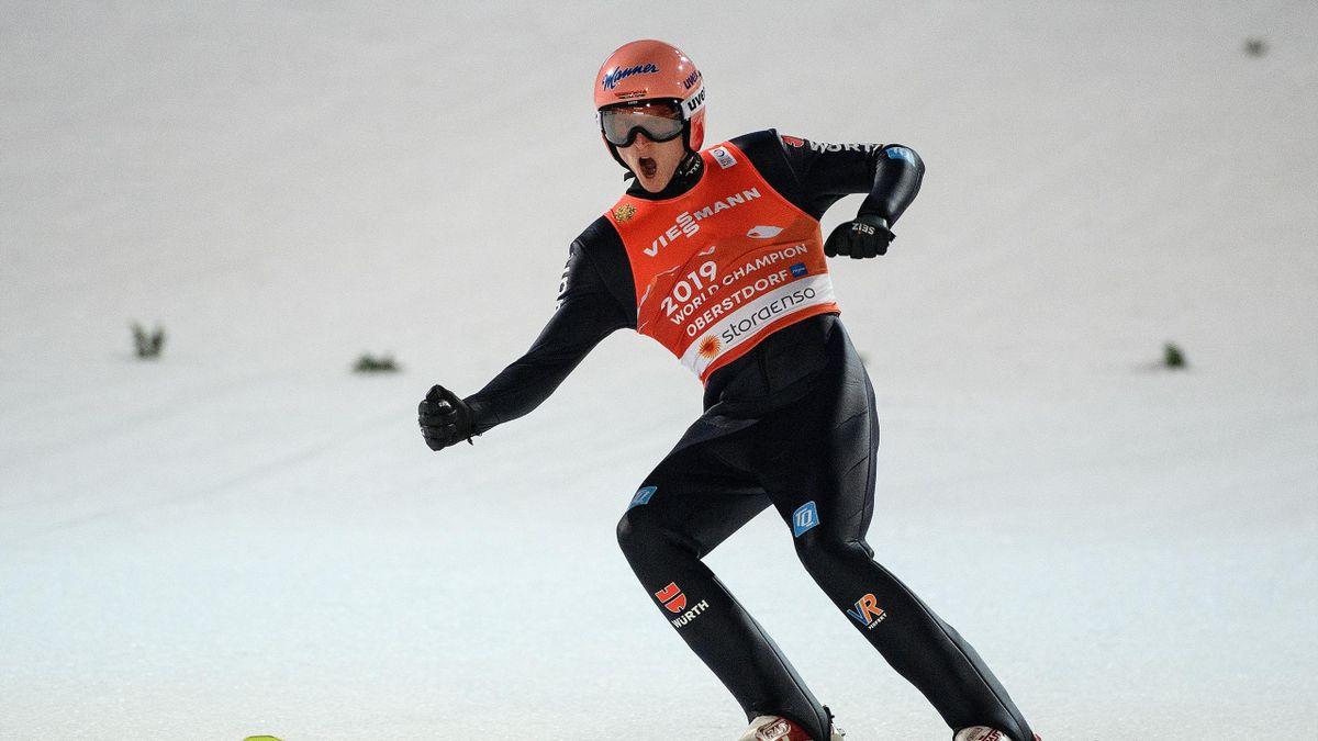 Karl Geiger in Oberstdorf