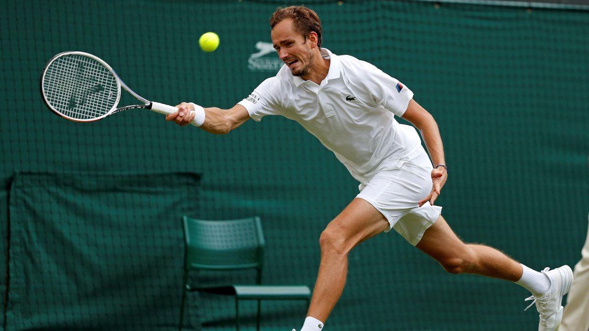 Daniil Medvedev in Wimbledon