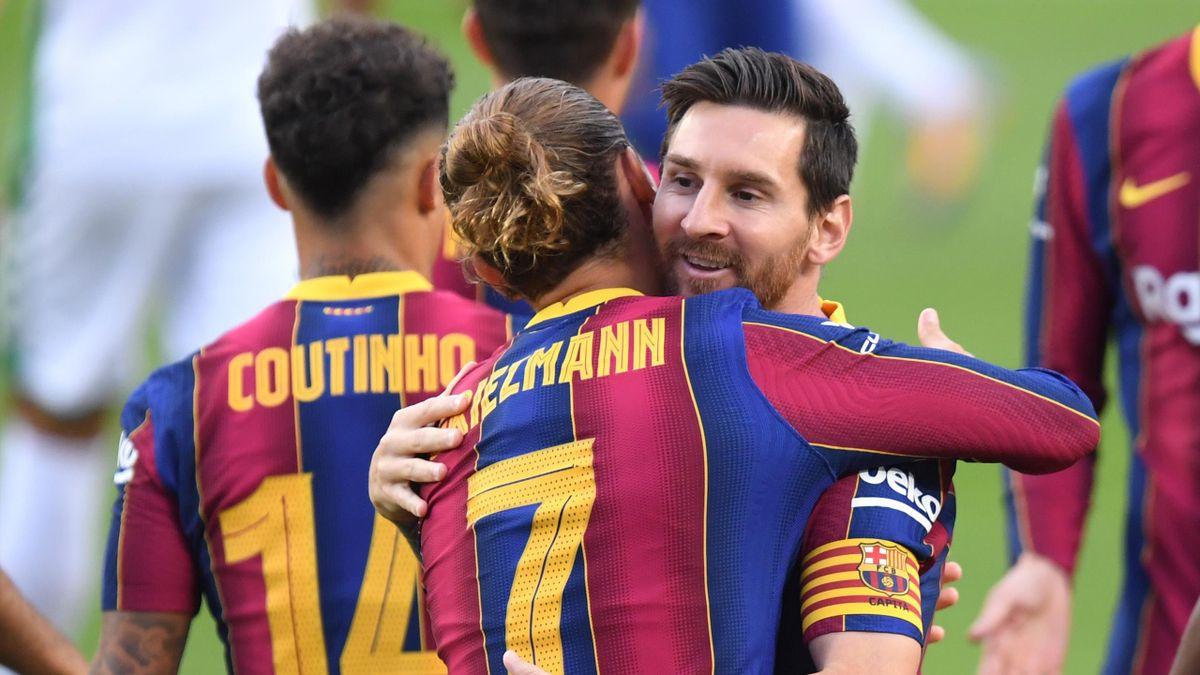 Antoine Griezmann şi Lionel Messi