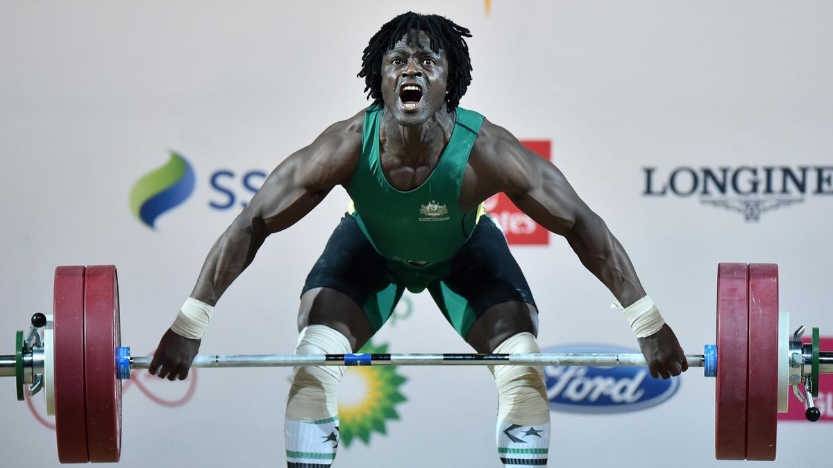 Australian weightlifter Francois Etoundi