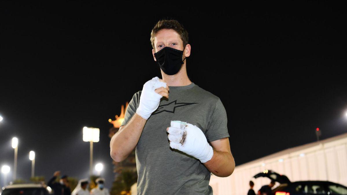 Romain Grosjean verunglückte in Bahrain in seinem Haas