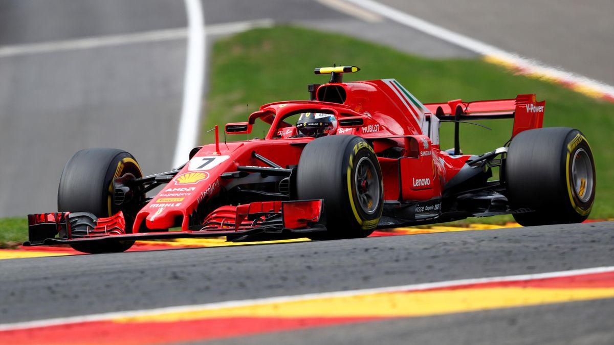 Kimi Raikkonen in Belgium