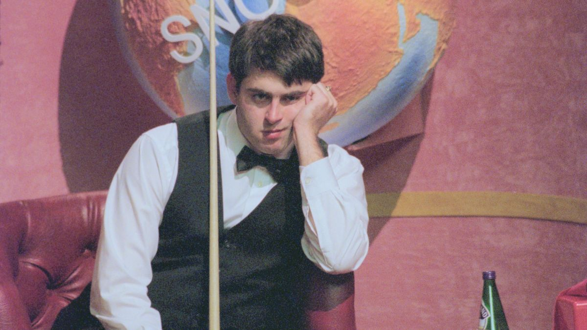 Ronnie O'Sullivan at the Crucible in 1996.