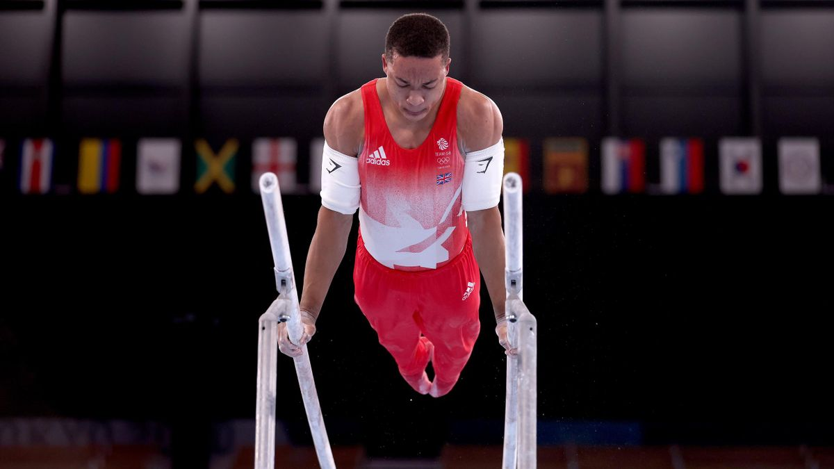Joe Fraser was unable to challenge for medals in the Olympic parallel bars final