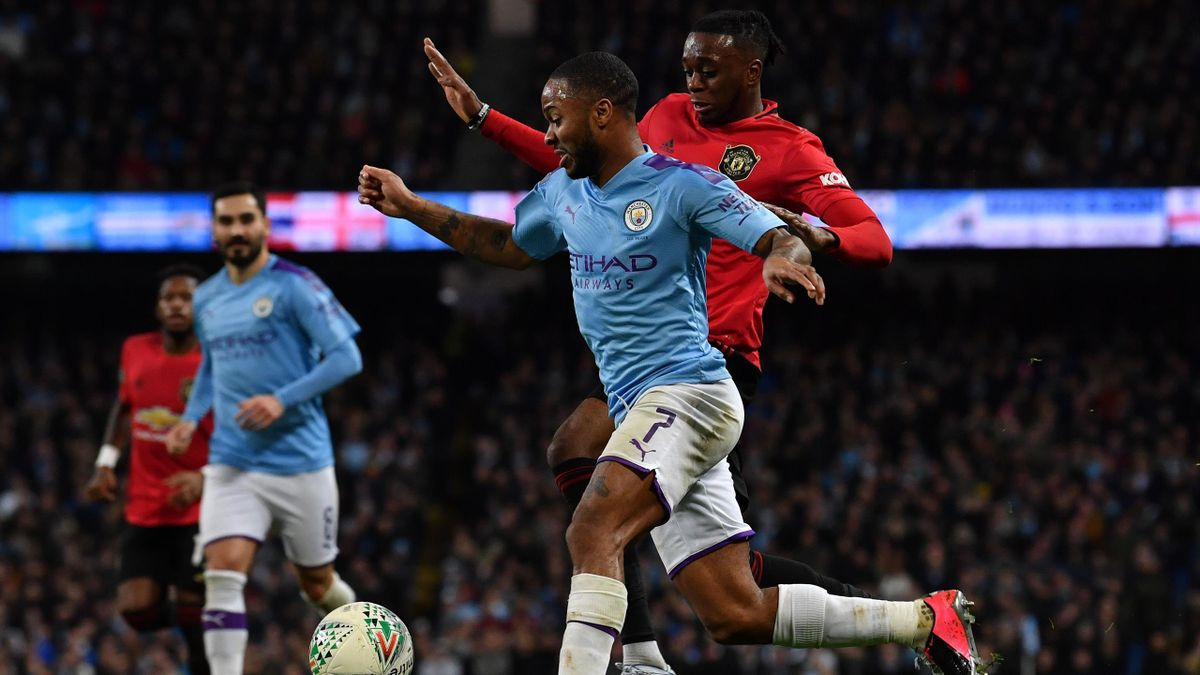 Raheem Sterling face à Manchester United