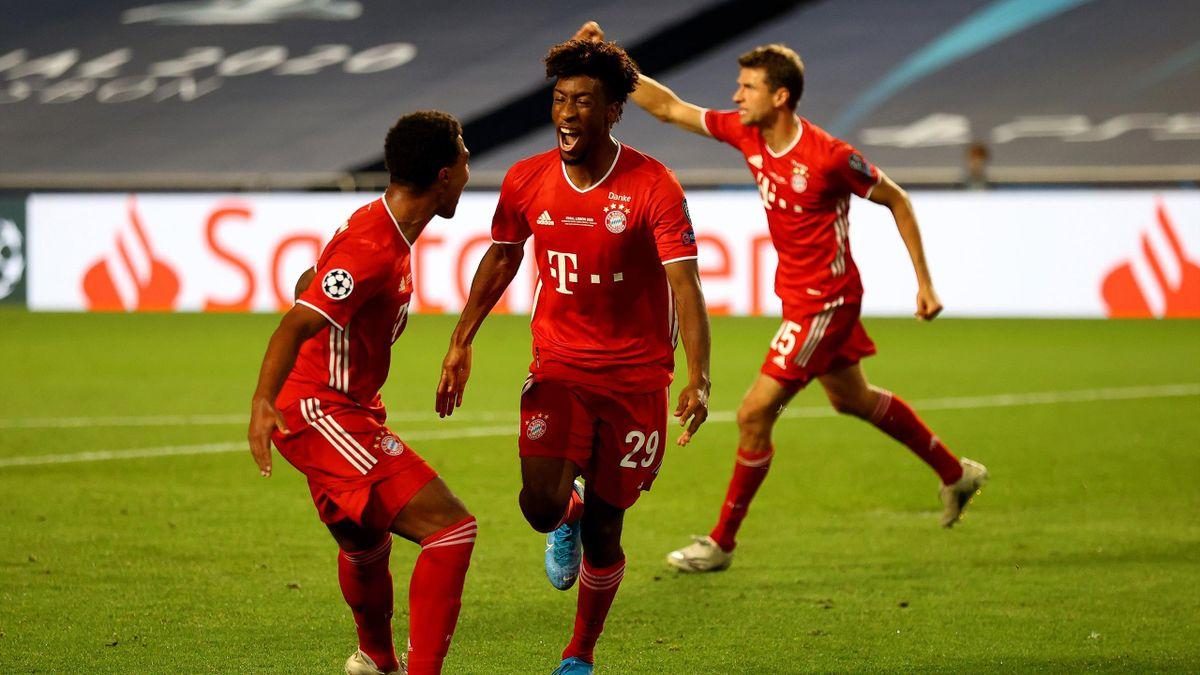 Bayerns Kingsley Coman (r.) bejubelt seinen Treffer zum 1:0 im Champions-League-Finale. Beim UEFA-Supercup könnte er wahrscheinlich wieder vor Fans im Stadion feiern