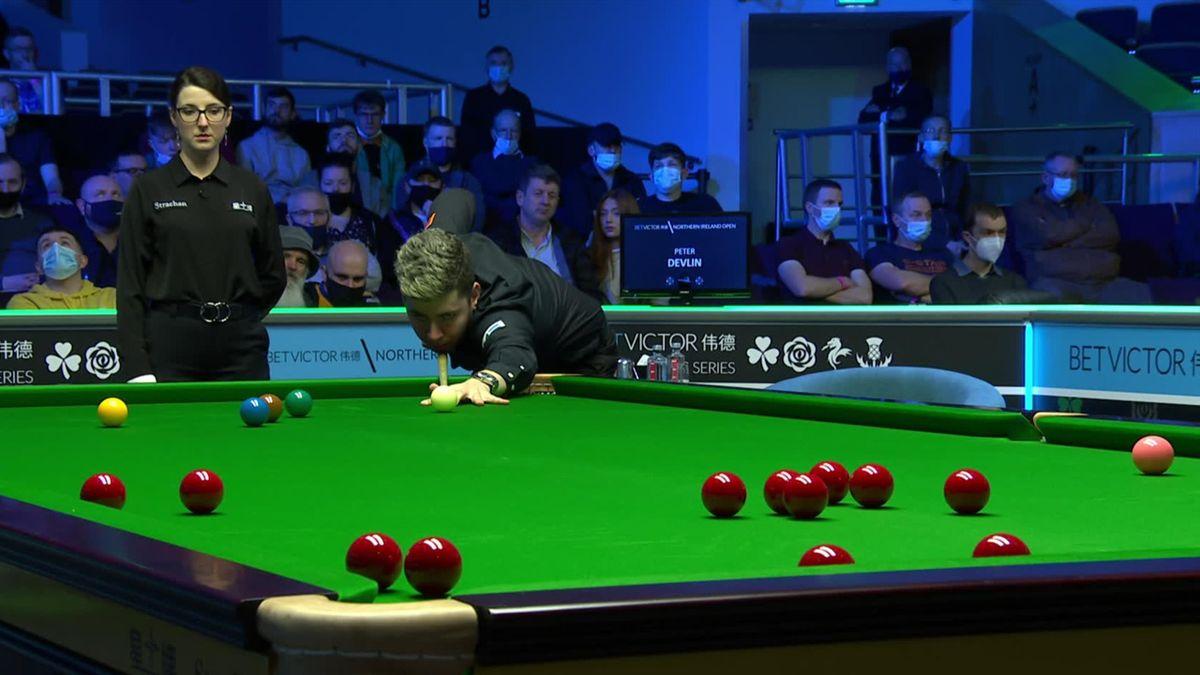 Northern Ireland Open | Devlin pot twee rode ballen voor de prijs van één