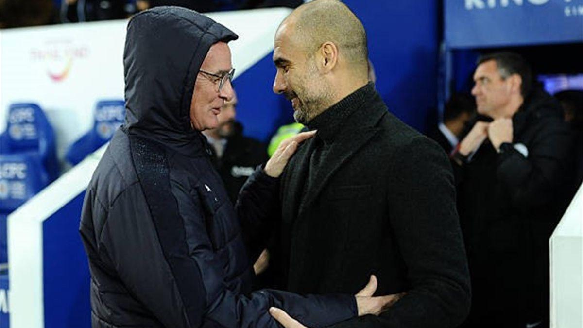Claudio Ranieri & Pep Guardiola