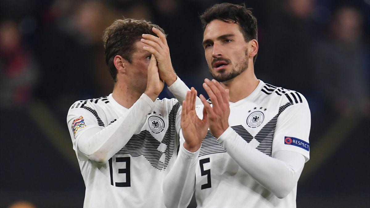 Müller (l.) und Hummels im Dress der Nationalmannschaft