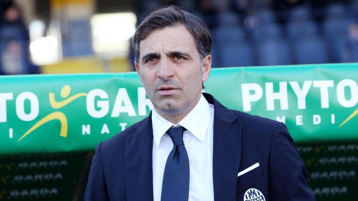 Fabio Pecchia - Hellas Verona-Crotone - Serie A 2017/2018 - LaPresse