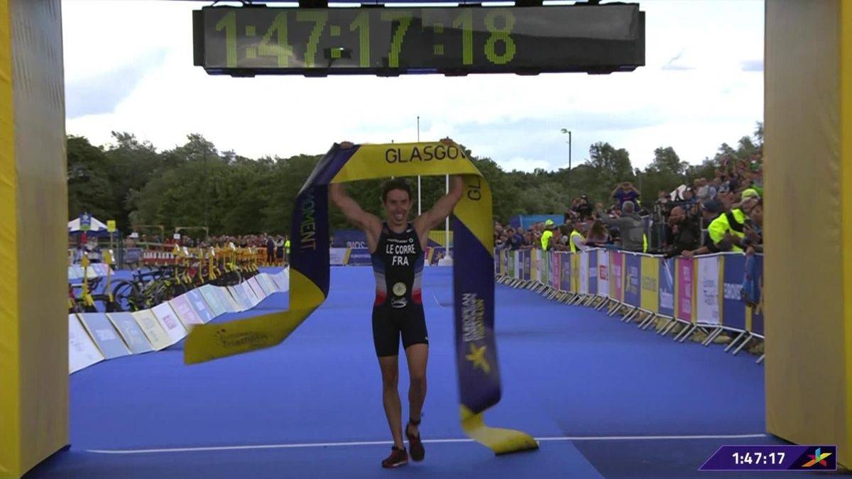 Alistair Brownlee fourth as Pierre Le Corre wins men's triathlon