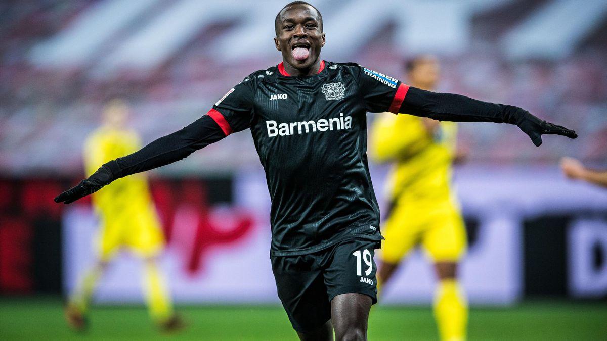 Moussa Diaby, l'ailier français du Bayer Leverkusen.