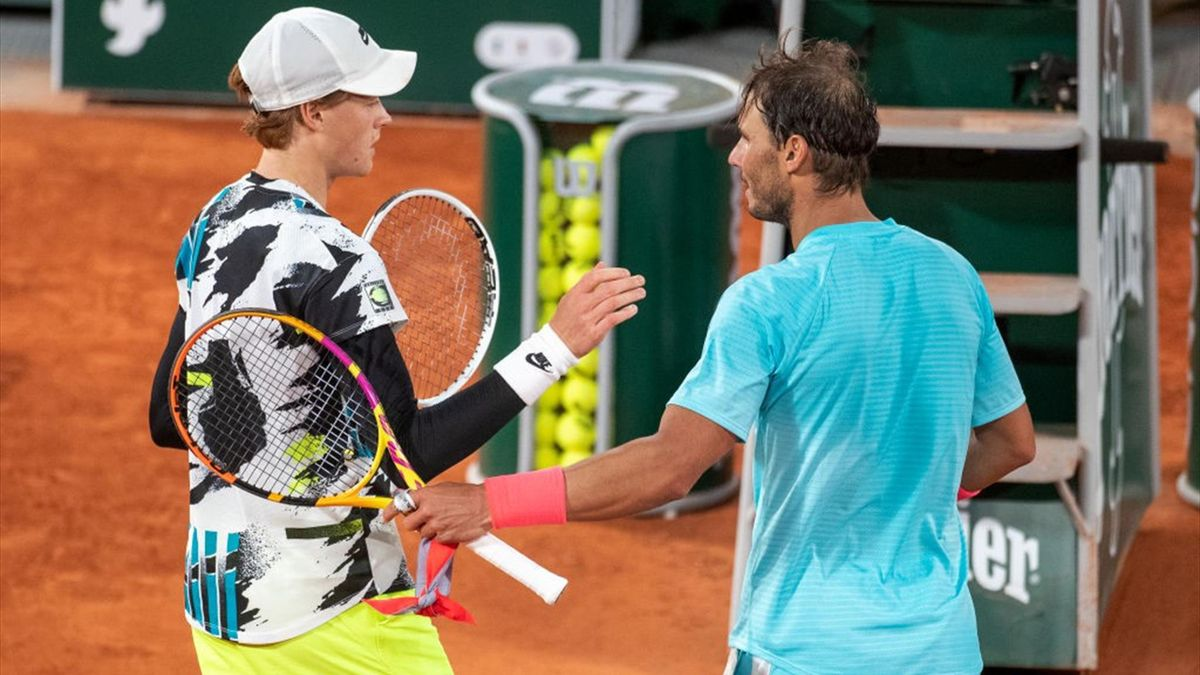 Jannik Sinner e Rafa Nadal - Roland Garros 2020