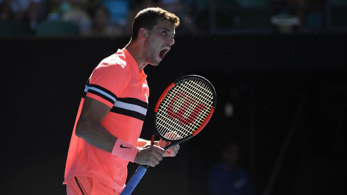 Grigor Dimitrov lors de l'Open d'Australie 2018