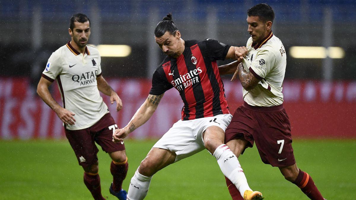 Ibrahimovic in Milan-Roma