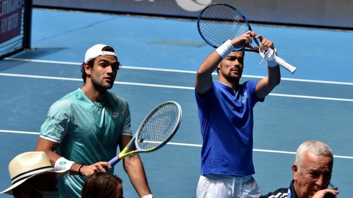 Matteo Berrettini e Fabio Fognini - ATP Cup