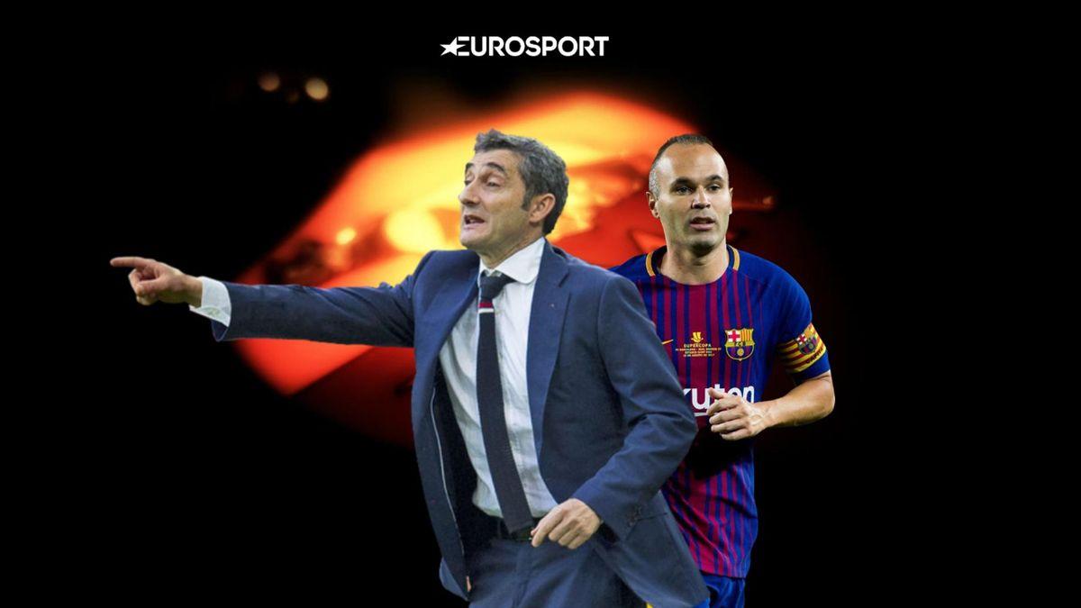 Ernesto Valverde, Andres Iniesta, Barcelona