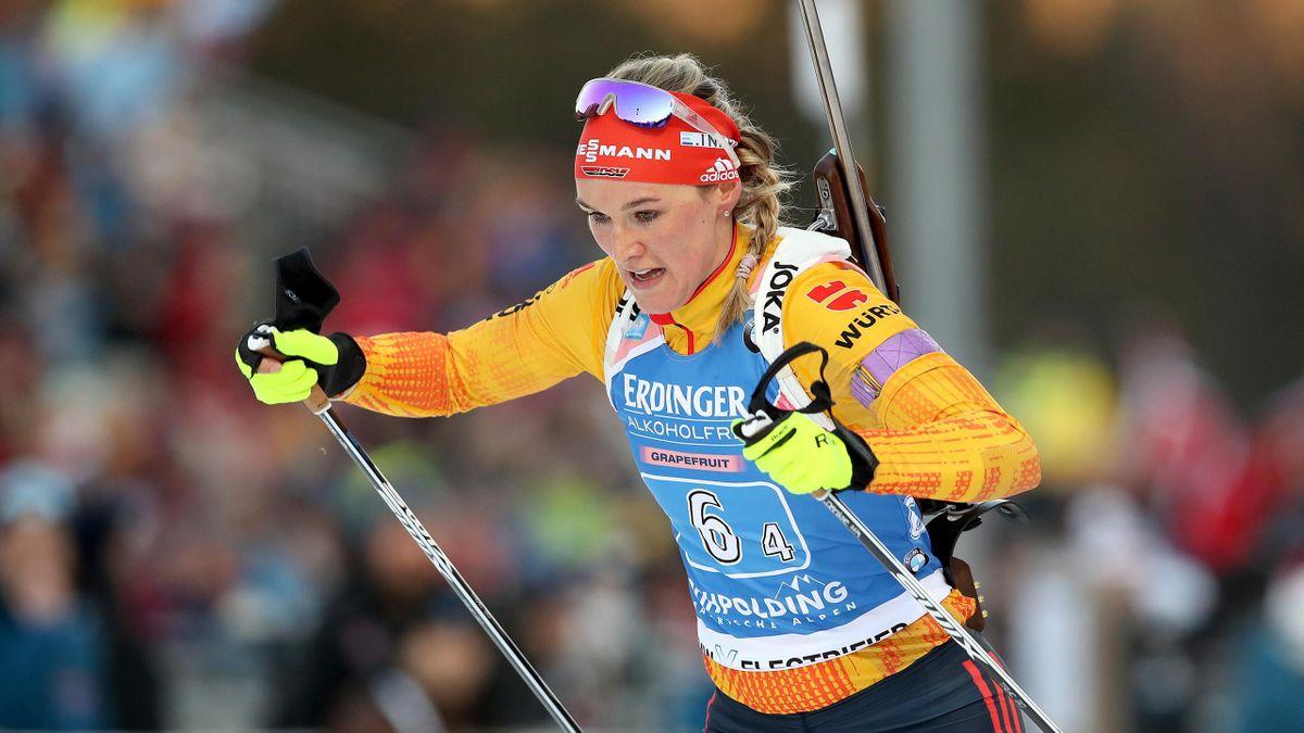 Denise Herrmann in der deutschen Staffel