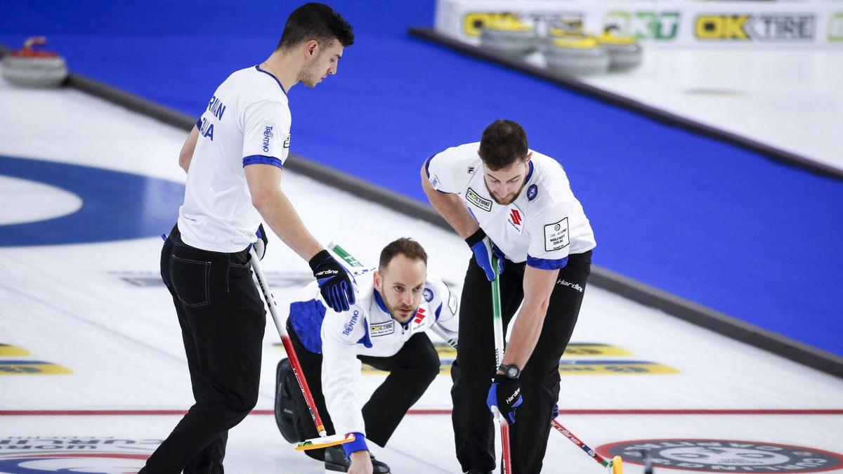 L'Italia al debutto nel Mondiale di Curling contro la Corea del Sud - Mondiali 2021 - Imago pub only in ITAxGERxSUIxAUT