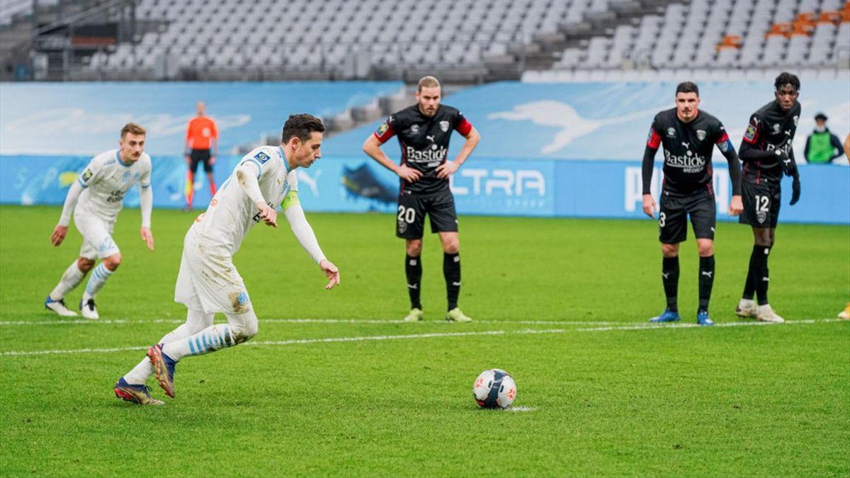 Florian Thauvin sur penalty avec Marseille, 2021