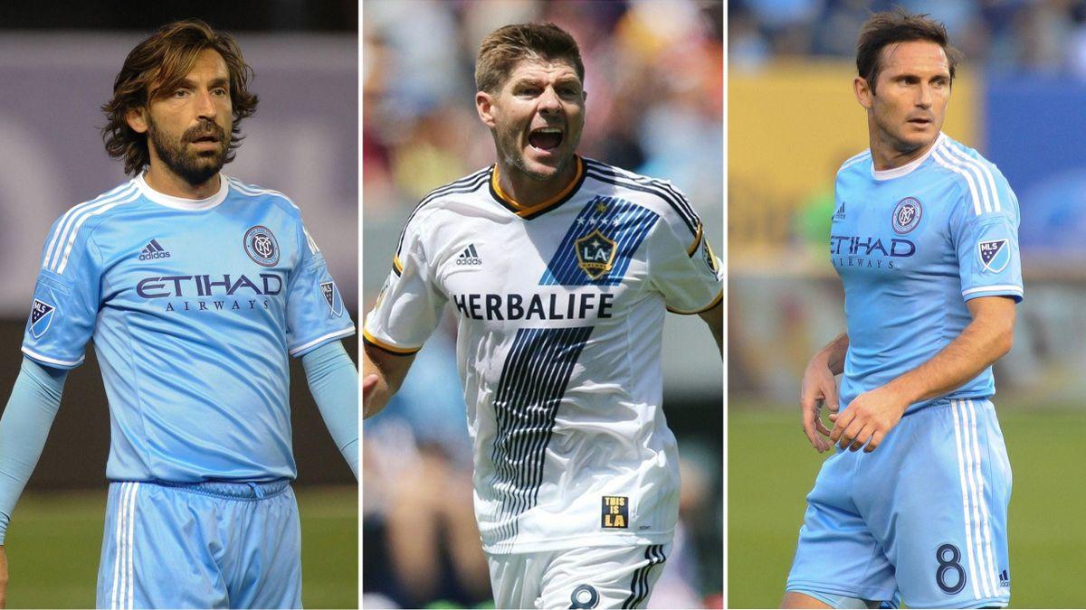 Stars in der MLS: Andrea Pirlo, Steven Gerrard und Frank Lampard (v.l.)
