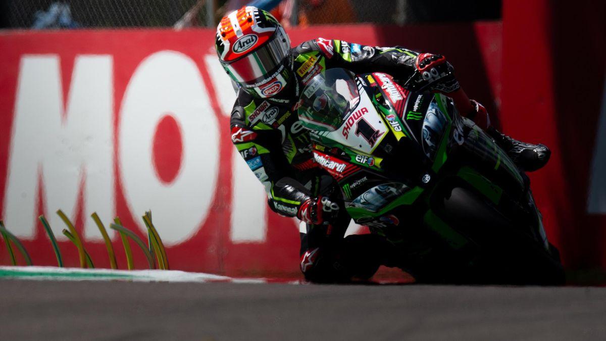 Jonathan Rea of Kawasaki Racing Team WorldSBK during the free practice 2 of the Motul FIM Superbike Championship