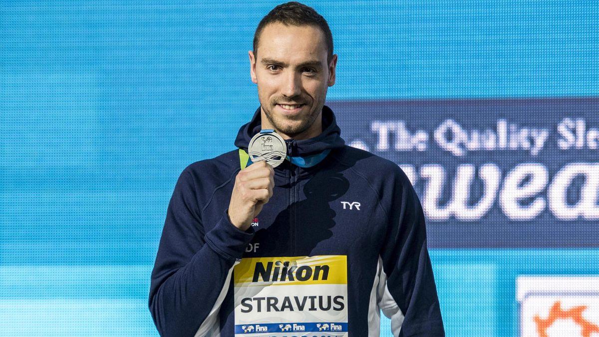 Jérémy Stravius a remporté la médaille d'argent sur le 50m dos.