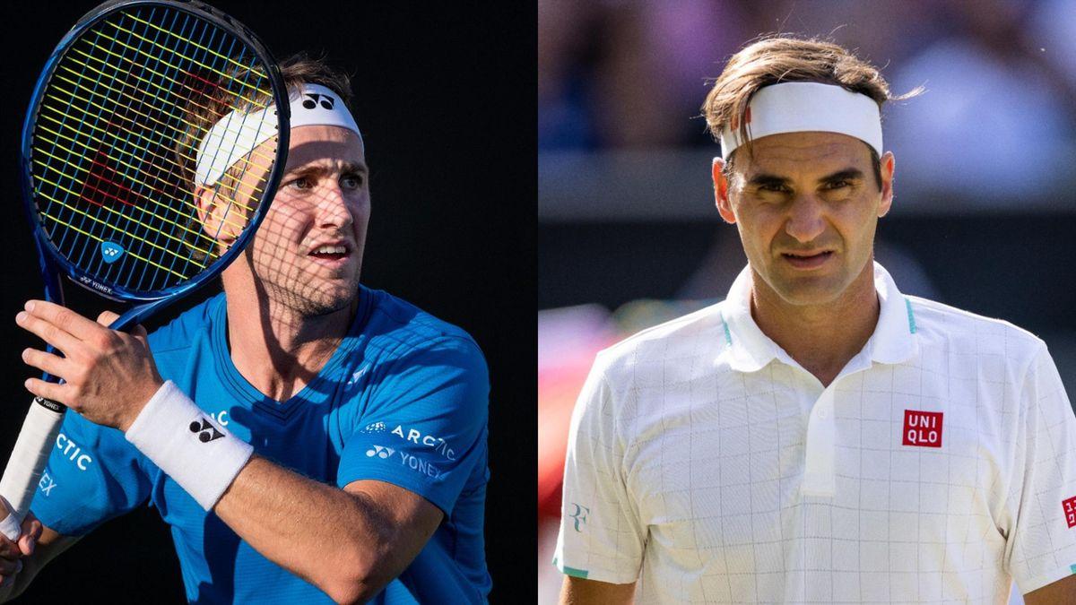 Casper Ruud og Roger Federer
